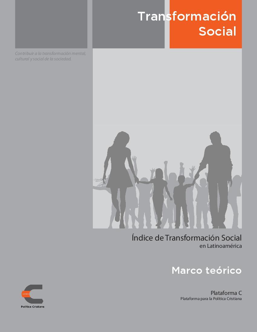 Índice de Transformación Social - Marco Teórico