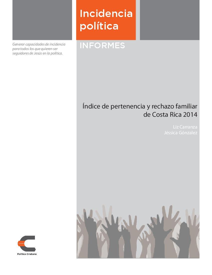 Índice de Pertenencia y Rechazo Familiar de Costa Rica 2014